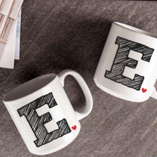 Cathy's Concepts 2-pc. Monogram Coffee Mug Set
