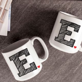 Cathy's Concepts 2-pc. Monogram Coffee Mug Set