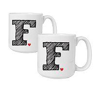 Cathy's Concepts 2 pc Monogram Coffee Mug Set