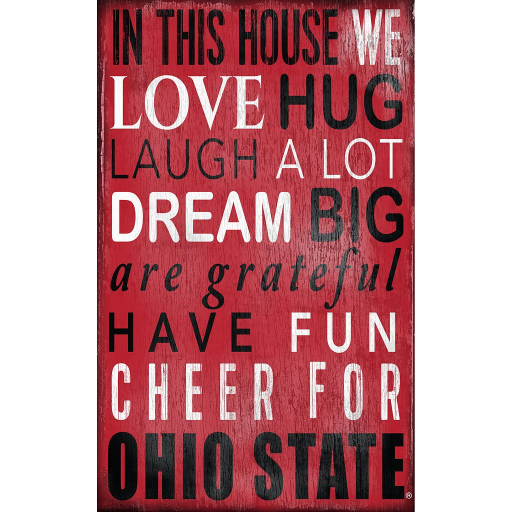 Ohio State Buckeyes In This House Wall Art