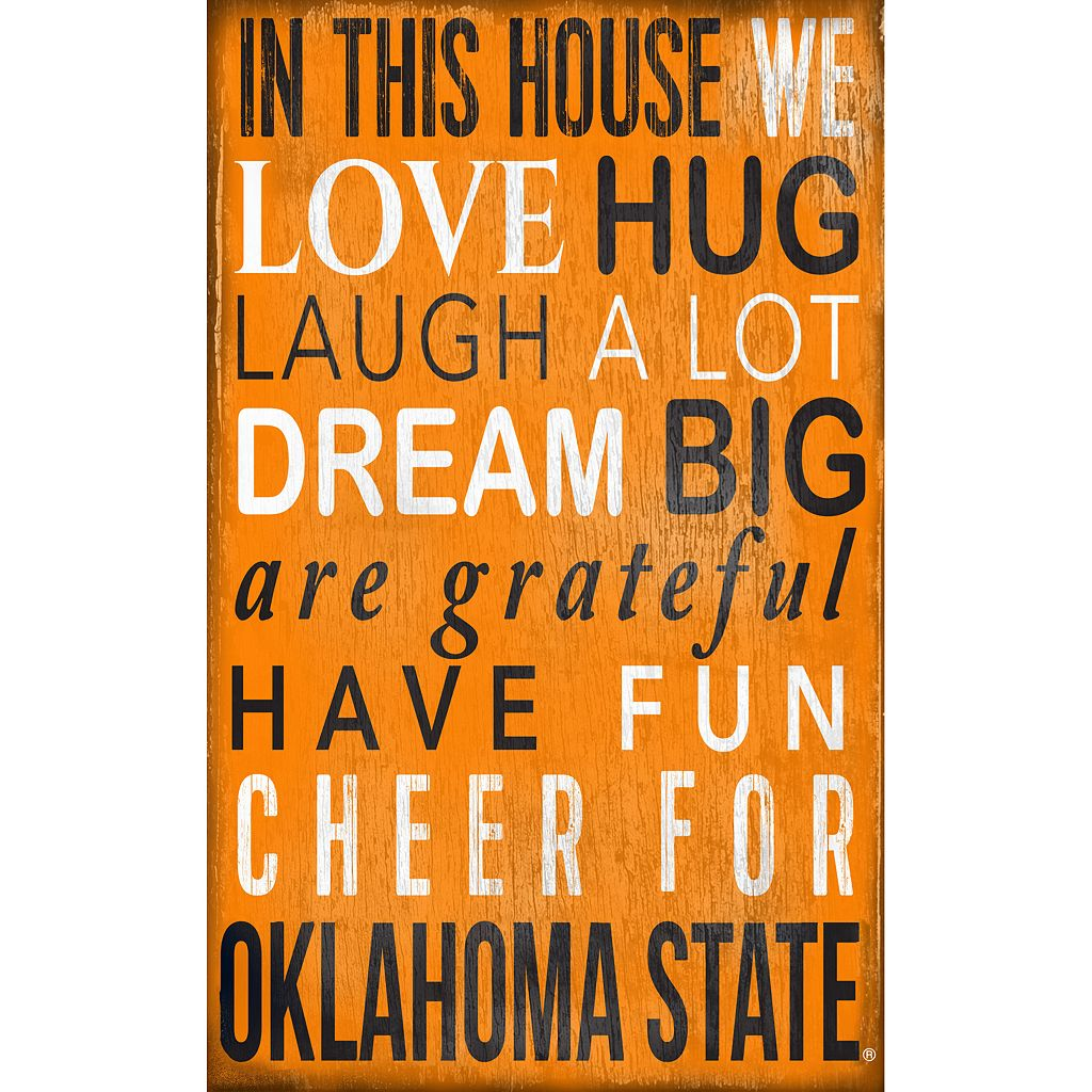 Oklahoma State Cowboys In This House Wall Art