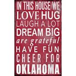 Oklahoma Sooners In This House Wall Art