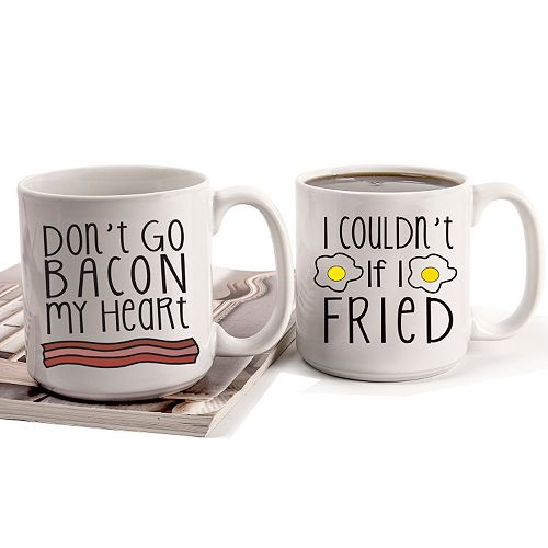 Cathy's Concepts 2-pc. Bacon & Eggs Coffee Mug Set