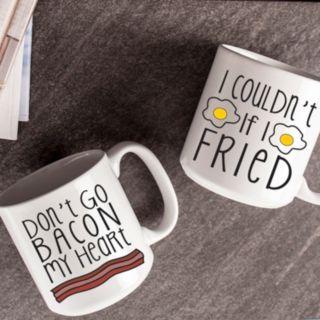Cathy's Concepts 2-pc. Bacon & Eggs Coffee Mug Set
