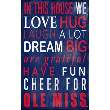 Ole Miss Rebels In This House Wall Art