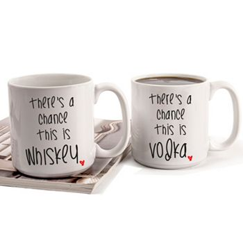"""Cathy's Concepts """"There's A Chance"""" 2-pc. Coffee Mug Set"""