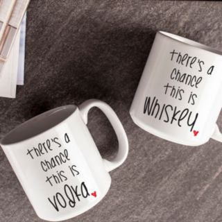 "Cathy's Concepts ""There's A Chance"" 2-pc. Coffee Mug Set"