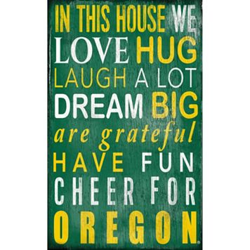 Oregon Ducks In This House Wall Art