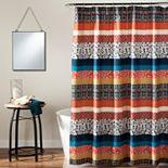 Lush Decor Boho Stripe Shower Curtain