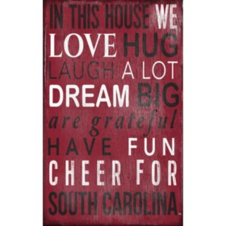 South Carolina Gamecocks In This House Wall Art