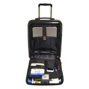 Travelers Club Luggage 18-in Hardside Spinner Laptop Carry-On
