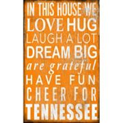 Tennessee Volunteers In This House Wall Art