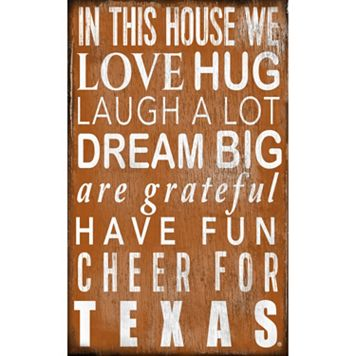 Texas Longhorns In This House Wall Art
