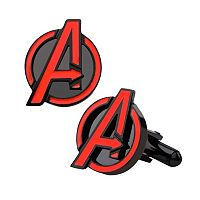 Marvel Avengers Black Ion-Plated Stainless Steel Cuff Links