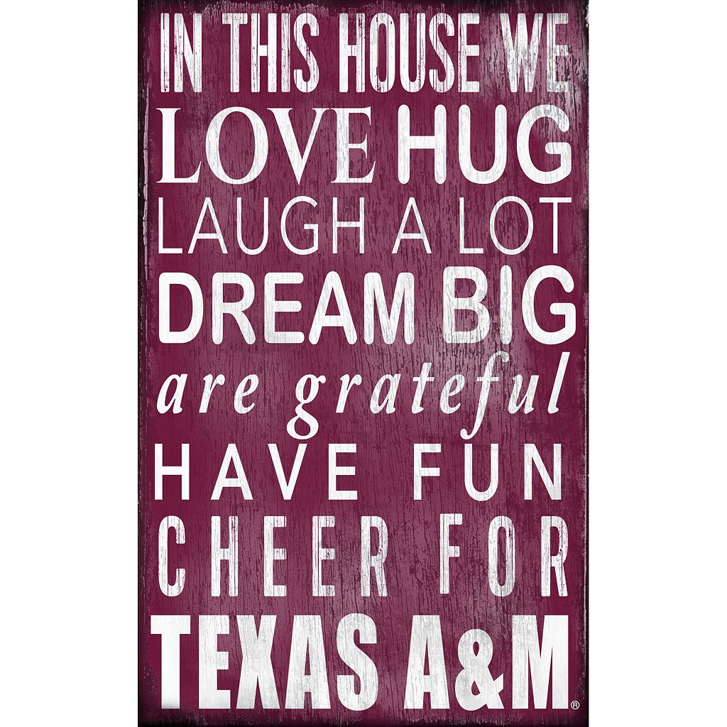Texas A&M Aggies In This House Wall Art