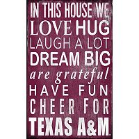 Texas A&M Aggies In This House Wall Art
