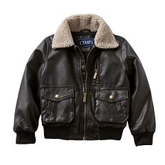 Boys 4-7 Chaps Faux-Leather Bomber Jacket