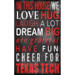 Texas Tech Red Raiders In This House Wall Art