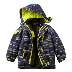 Boys 4-7 Chaps Striped 3-in-1 Systems Jacket