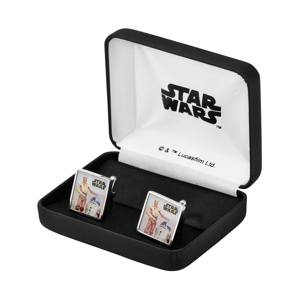 Star Wars C-3PO & R2-D2 Stainless Steel Cuff Links