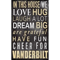 Vanderbilt Commodores In This House Wall Art