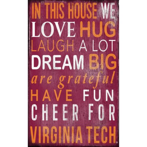 Virginia Tech Hokies In This House Wall Art