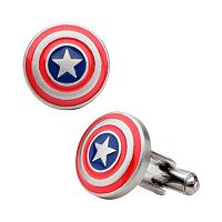 Marvel Captain America Shield Stainless Steel Cuff Links