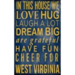West Virginia Mountaineers In This House Wall Art