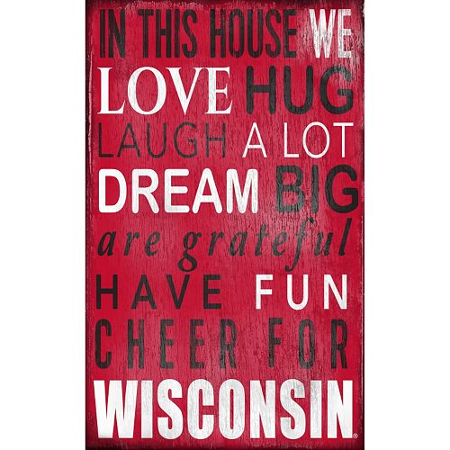 Wisconsin Badgers In This House Wall Art