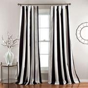 Lush Decor Wilbur Room Darkening 2 pkWindow Curtains