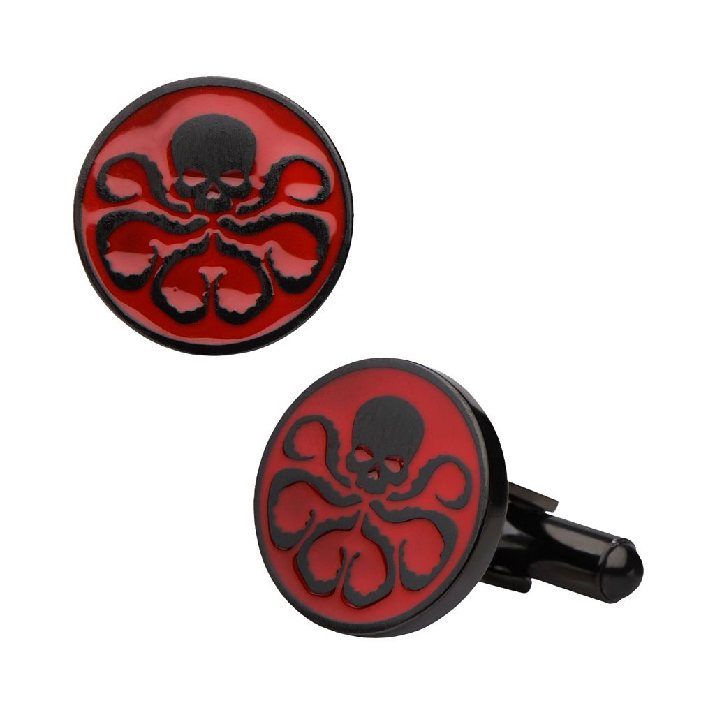 Marvel Hydra Black Ion-Plated Stainless Steel Cuff Links