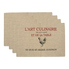 Park B. Smith 'L'Art Culinaire' 4-pc. Placemat Set