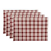 Park B. Smith Plaid Woven 4-pc. Placemat Set