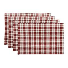 Park B. Smith Plaid Woven 4 pc Placemat Set