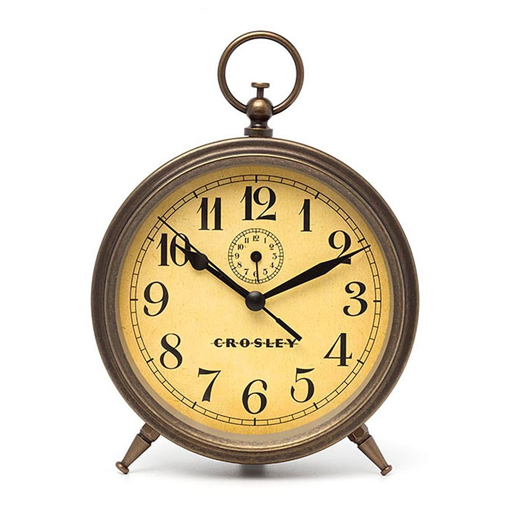 Crosley Antique Dial Finial Alarm Clock