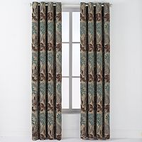 Arlee Lyndsay Chenille Leaf Grommet Window Curtain Set - 84'' x 54''