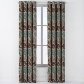 Arlee Lyndsay Chenille Leaf Grommet Window Curtain Set - 84'' x 54''
