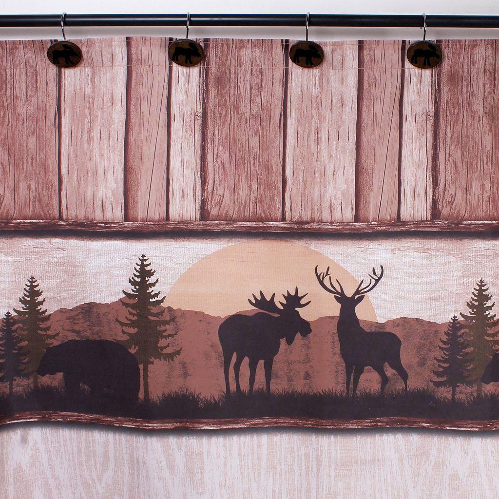 Saturday Knight, Ltd. Silhouette Wildlife Shower Curtain