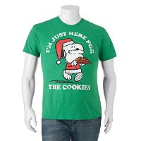 Big & Tall Peanuts Snoopy Santa Tee