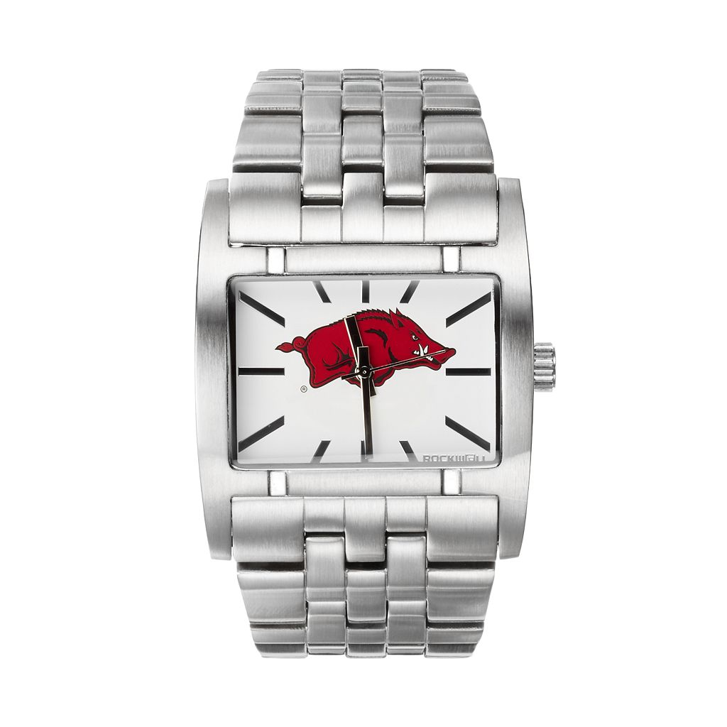 Rockwell Arkansas Razorbacks Apostle Stainless Steel Watch - Men