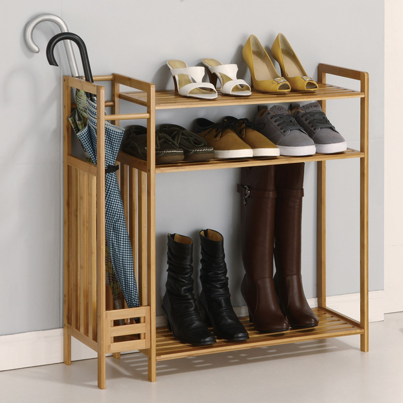 Neu Home 3 Tier Stackable Shoe Rack U0026 Storage