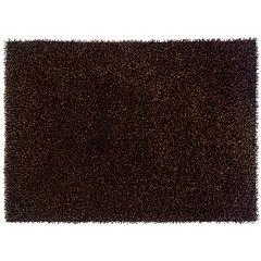 Linon Confetti Solid Shag Rug