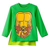 Teenage Mutant Ninja Turtles Michelangelo Toddler Boy Caped Tee