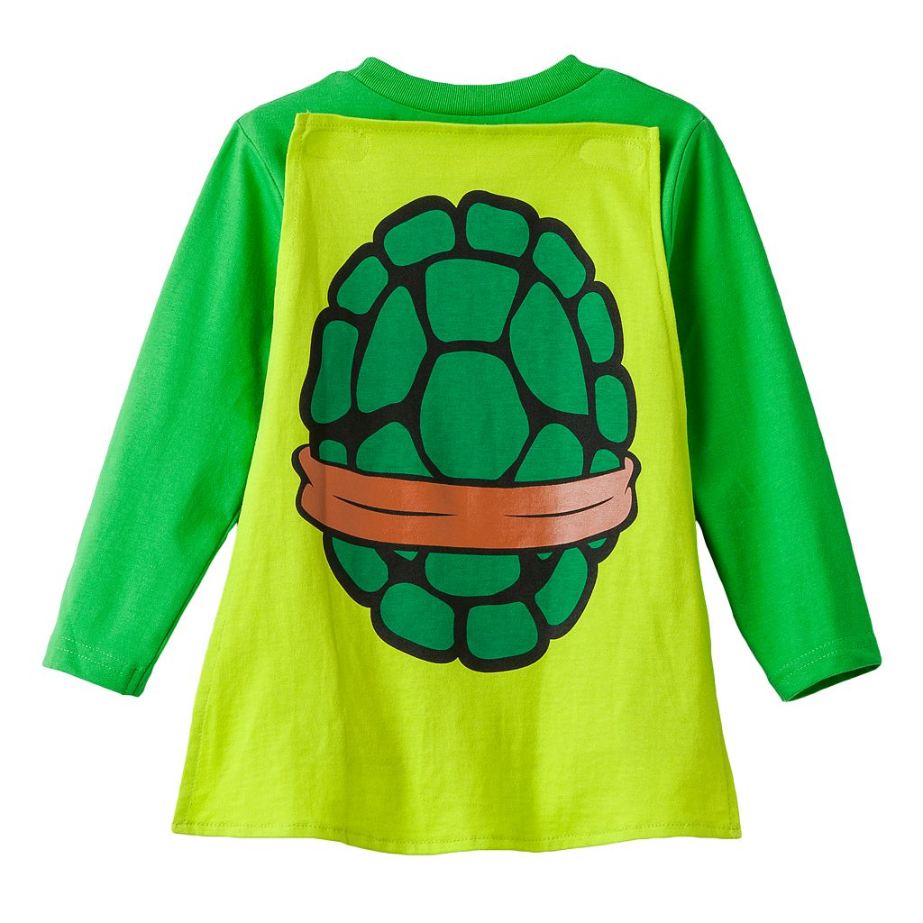 Teenage Mutant Ninja Turtles Michelangelo Toddler Boy Caped Tee