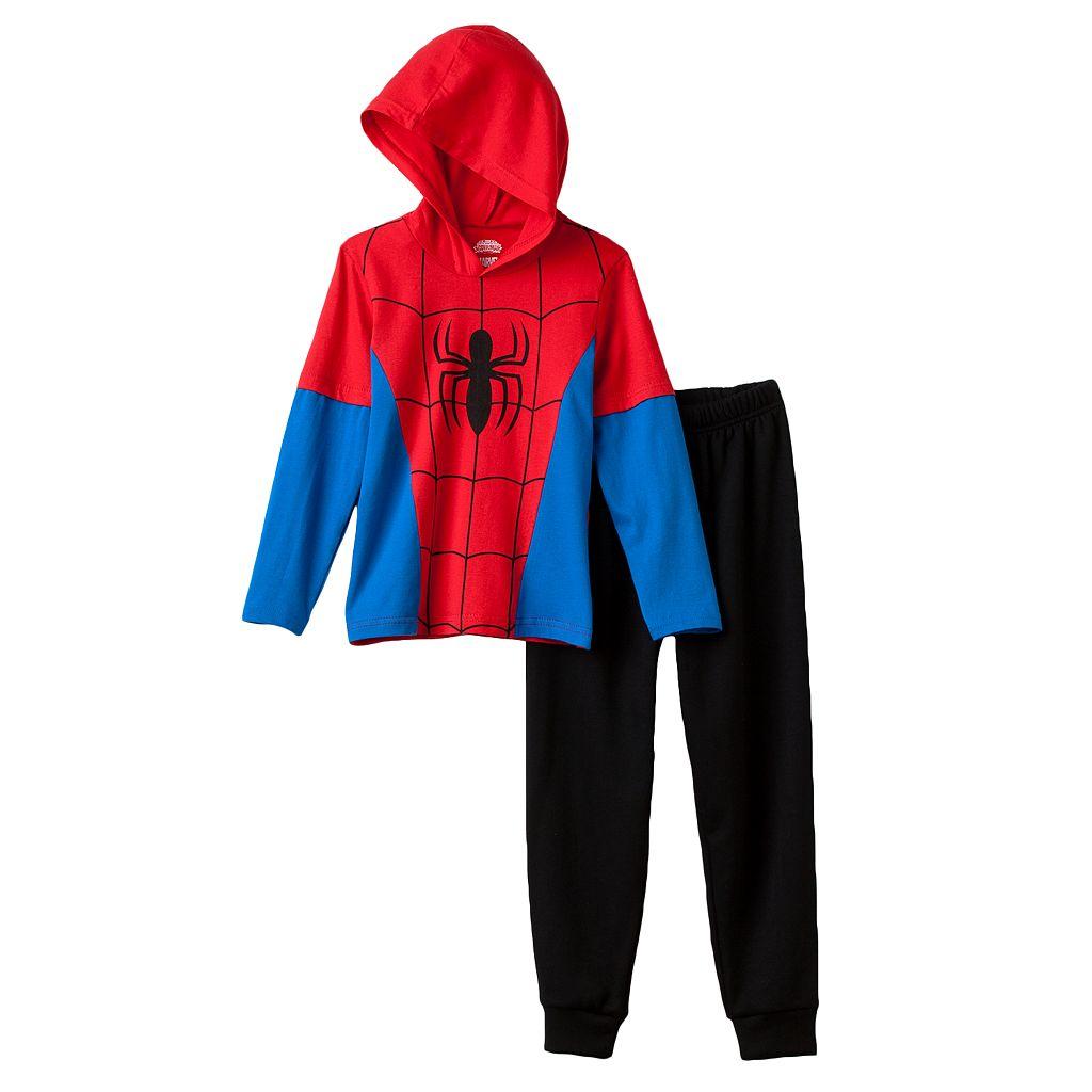 Marvel's Spider-Man Toddler Boy Hooded Tee & Pants Set