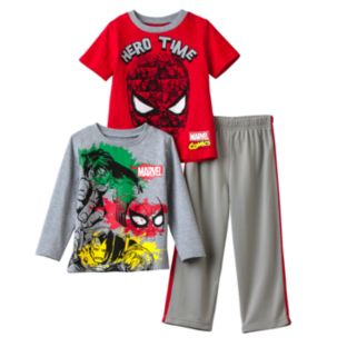 "Marvel's Spider-Man Toddler Boy ""Hero Time"" Tee & Pants Set"