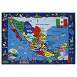 Fun Rugs Fun Time Map of Mexico Rug