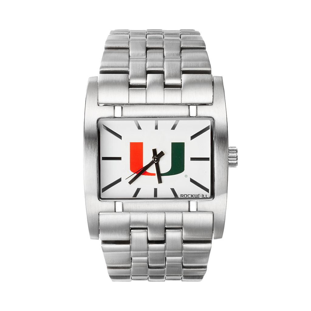 Rockwell Miami Hurricanes Apostle Stainless Steel Watch - Men