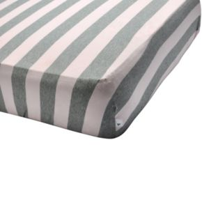 Burt's Bees Baby Organic Striped Fitted Crib Sheet