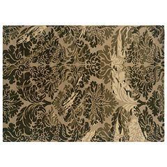 Linon Florence Damask Wool Rug
